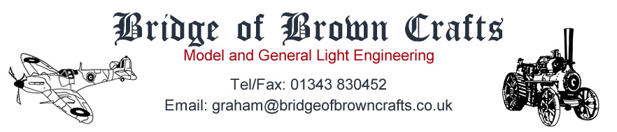 Bridge of Brown Crafts - Model and General Light Engineering - Hopeman Elgin Moray