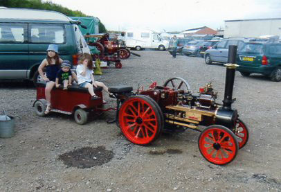 Recent roadandrail of 4 inch Garrett Traction Steam Engine
